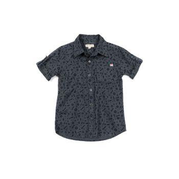 Kortermet skjorte - Pattern Shirt Toolbox, Grå