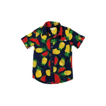 Kortermet skjorte - Pattern Shirt Tropical Fruits, Blå