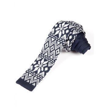 Slips - Navy Fair Isle, Blå & hvit mønstret