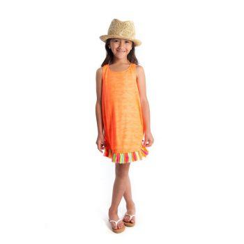 Kjole - Thalia Sunray sommerkjole, Oransj