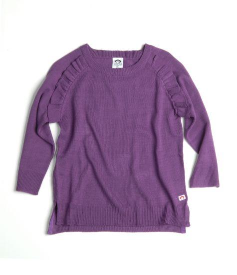 Genser - Ruffle Sweater, Lilla