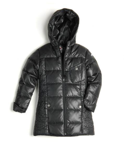 Dunkåpe - Black Light Long Down Coat, svart