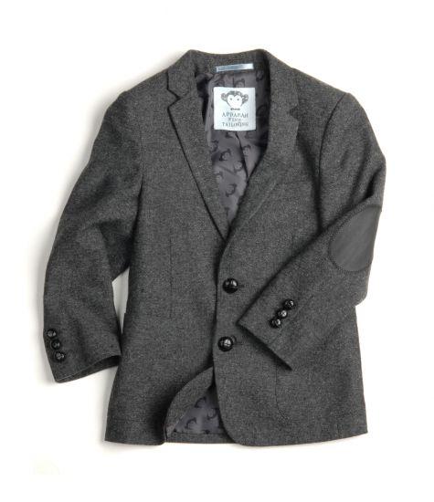 Tweedjakke - Mini professor, mørk grå