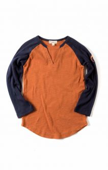Langermet trøye - Baseball Tee, rustfarget