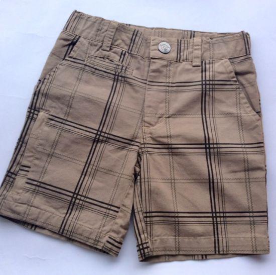 Shorts - Board shorts, brun beige rutet