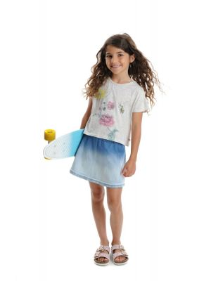 T-skjorte - Kyra Tee Speckled White, Hvit