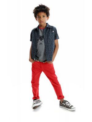 Kortermet skjorte - Toolbox Pattern Shirt, grå mønstret