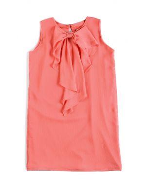 Kjole - Cascade Bow Dress Ceycelles, Lakserød