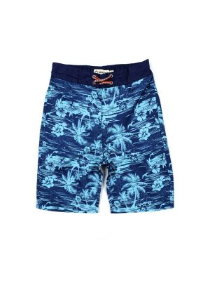Badeshorts - Blue Hawaii, Blå