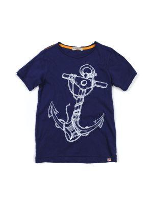 T-skjorte - Graphic Anchor, Blå