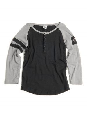 Langermet trøye - Baseball Henley Mist Mini, Sort