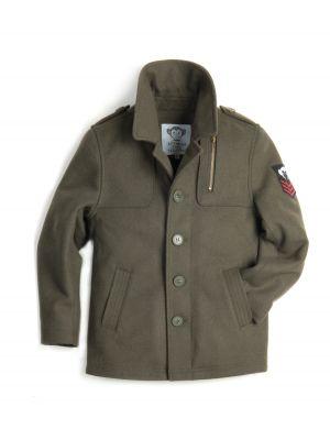 Fine Tailoring ytterjakke - Bowery Coat Army Green, Olivengrønn