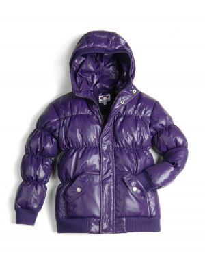 Dunjakke Mini - Puffy Coat Purple, Mørk lilla