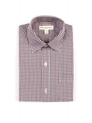 Penskjorte - Burgunder rutet dresskjorte