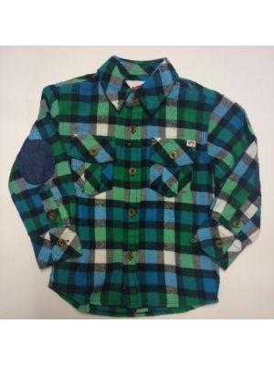 Flanellskjorte - Lys blårutet