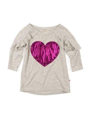 Langermet trøye - Amelie Heart, Lys grå