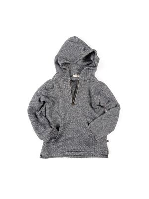 Hettegenser - Half Zip Hoodie Polaris, Mørk grå
