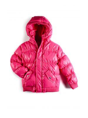 Dunjakke - Puffy Coat Hot Pink, rosa