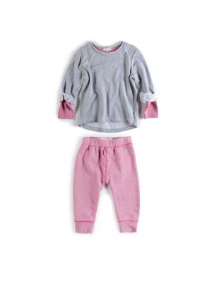 Mini sett - Sweatshirt & Leggings, rosa