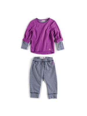 Mini sett - Sweatshirt & Leggings, lilla