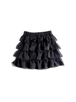 Skjørt - Ruffle Skirt, Svart