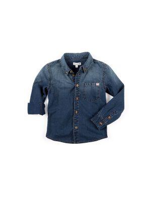 Jeans-skjorte - Remy Denim, mørk blå