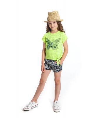 Shorts - Harper Shorts Navy Daisy, Blå