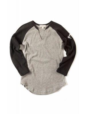 Langermet trøye - Baseball Tee, lys grå