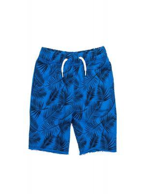 Shorts - Camp Short Palm Leaves, Blå