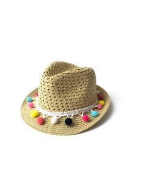 Hatt - Fiesta Fedora stråhatt, stråfarget