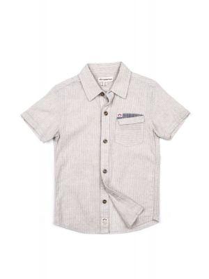 Kortermet skjorte - Mossman, Hvit stripet