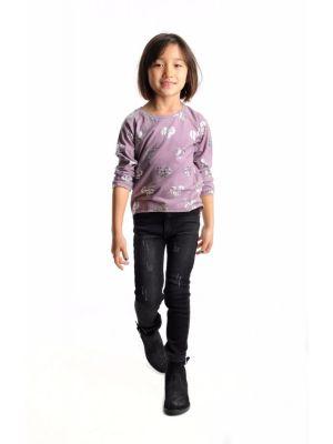 Bukse - Stonewash Jeans, Svart