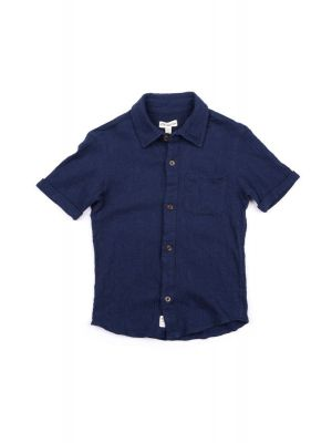 Kortermet skjorte - Beach Shirt, Blå