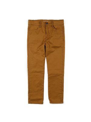 Bukse - Skinny Twill Pant, Kanel farget