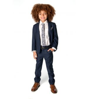 Pendress - FineTailoring Suit Nailshead, Blå-sort melert