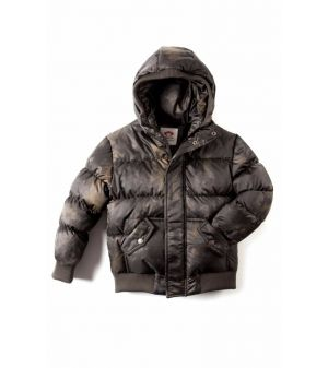 Dunjakke - Puffy Coat, Grå aurora